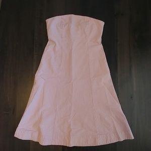 Gap Pink Seersucker Stretch Dress 4